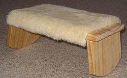 meditation stool with sheep skin